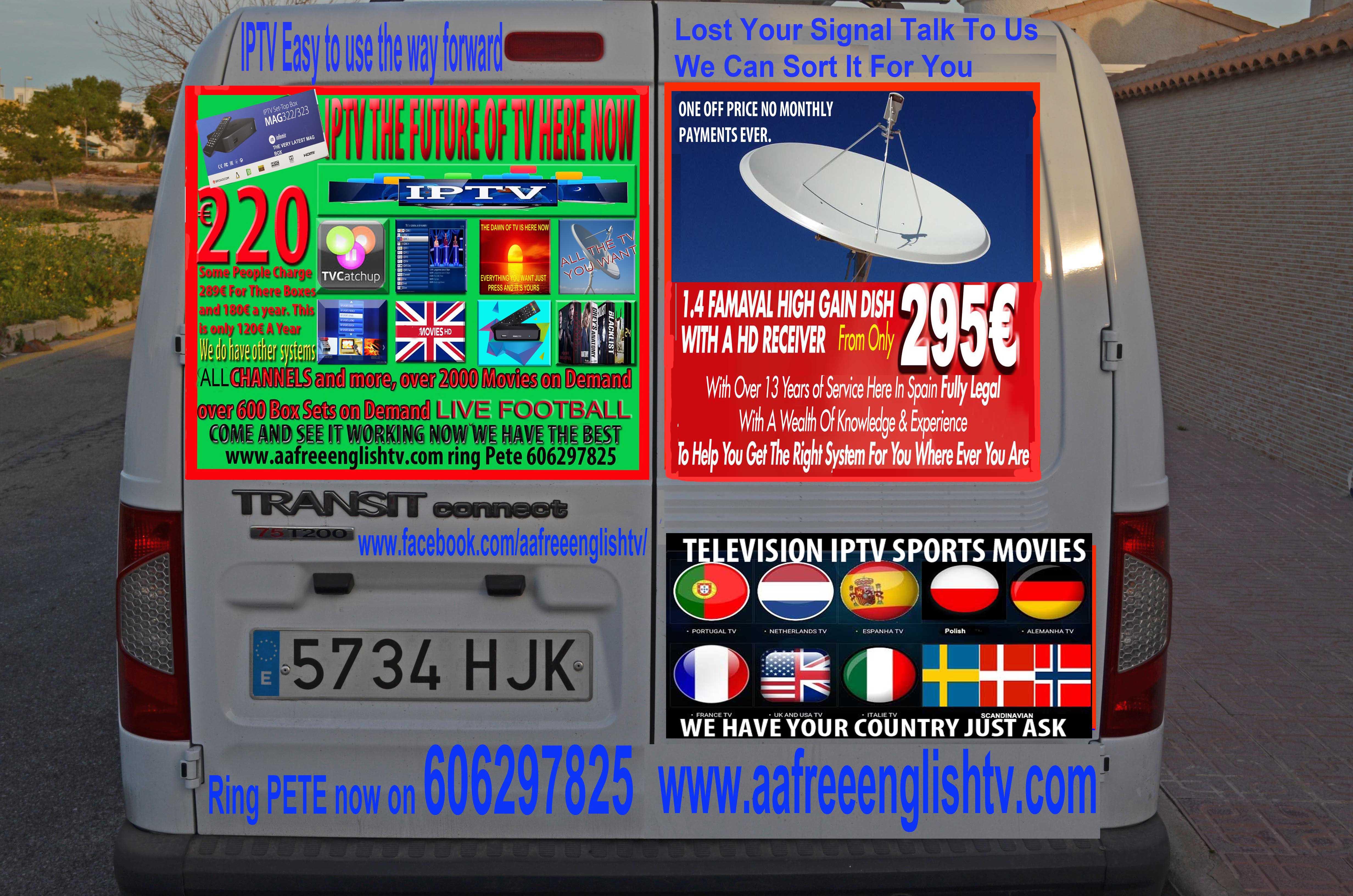 NEW VAN GRAPHICS AFTER CRASH IPTV SPAIN, ENGLISH TV SPAIN